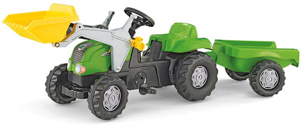 rolly-toys-rollykid-x-traktor-mit-lader-und-anhanger-grun-kinderspielzeug-