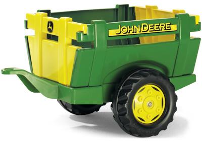 Rolly Toys RollyTrailer John Deere Anhänger Farm (Grün) [Kinderspielzeug]