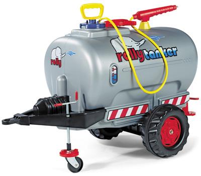 Rolly Toys RollyTrailer Anhänger Tanker mit Pumpe und Spritze (Silber) [Kinderspielzeug]