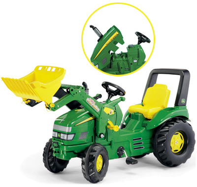 Rolly Toys RollyX Trac John Deere mit Frontlader (Grün) [Kinderspielzeug]