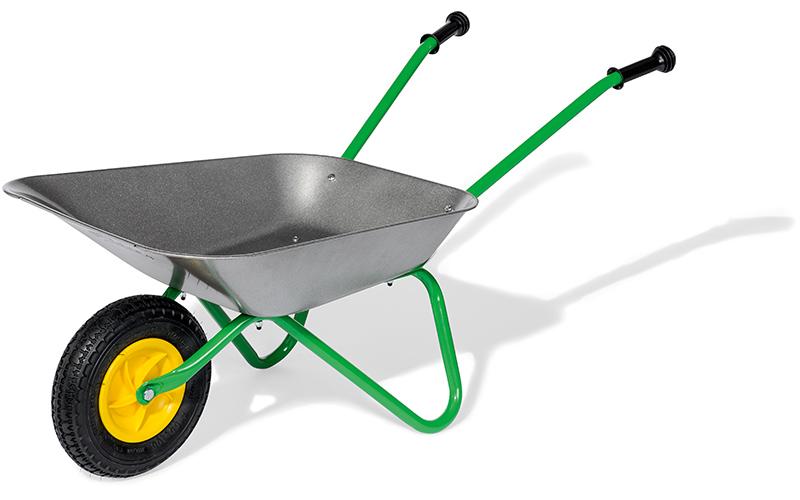 rolly-toys-metallschubkarre-mit-luftreifen-silber-grun-kinderspielzeug-