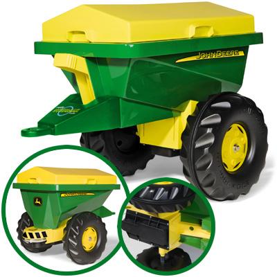 Fürtreter - Rolly Toys RollyTrailer Anhänger Streumax John Deere (Grün) [Kinderspielzeug] - Onlineshop