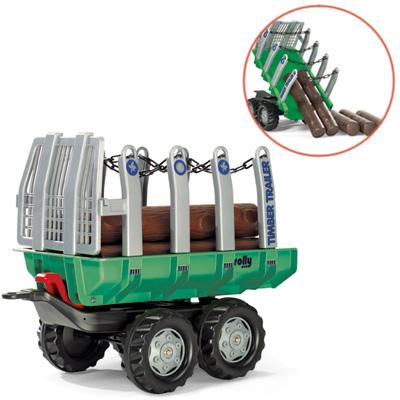 Fürtreter - Rolly Toys RollyTrailer Anhänger Timber mit Baumstämmen (Grün) [Kinderspielzeug] - Onlineshop