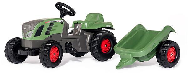Rolly Toys RollyKid Fendt 516 Vario Traktor mit Anhänger (Grün) [Kinderspielzeug]