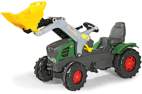 Rolly Toys RollyFarmtrac Fendt 211 Vario Traktor mit Frontlader (Grün) [Kinderspielzeug]