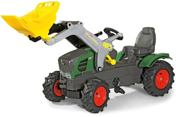 Rolly Toys RollyFarmtrac Fendt 211 Vario Traktor mit Frontlader und Luftbereifung [Kinderspielzeug]