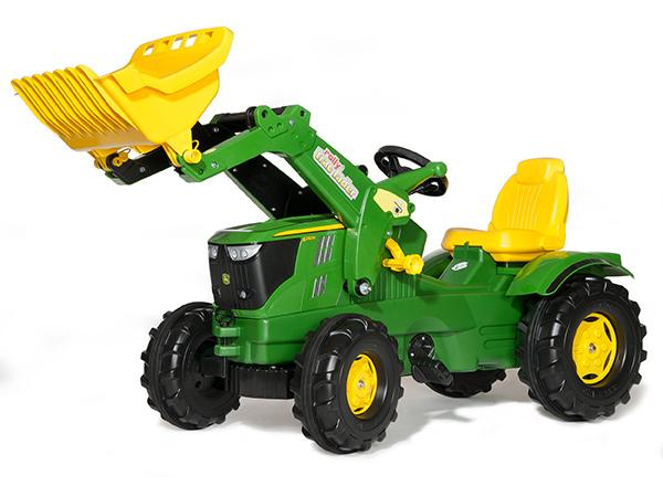 Rolly Toys RollyFarmtrac John Deere 6210 R mit Frontlader (Grün) [Kinderspielzeug]