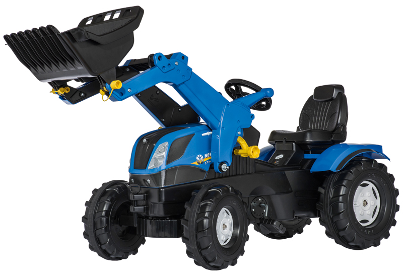 Rolly Toys RollyFarmtrac New Holland mit Frontlader (Blau) [Kinderspielzeug]
