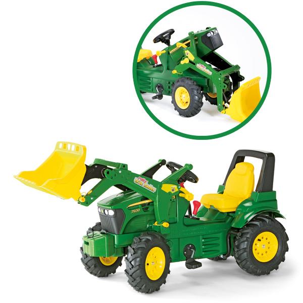Rolly Toys RollyFarmtrac Premium John Deere 7930 Traktor mit Frontlader und Luftbereifung [Kinderspielzeug]
