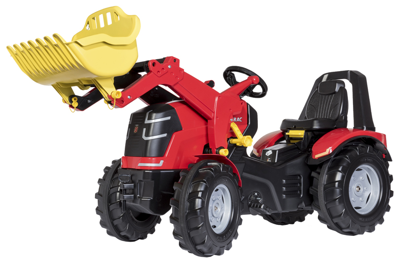 Rolly Toys RollyX Trac Premium Traktor mit Frontlader (Rot) [Kinderspielzeug]
