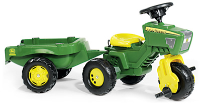 rolly toys rollyminitrac john deere trac mit anh nger. Black Bedroom Furniture Sets. Home Design Ideas