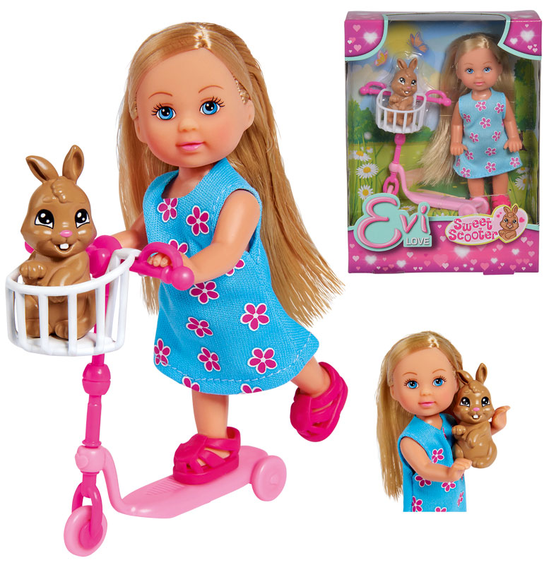 simba-evi-love-sweet-scooter-roller-mit-hase-kinderspielzeug-