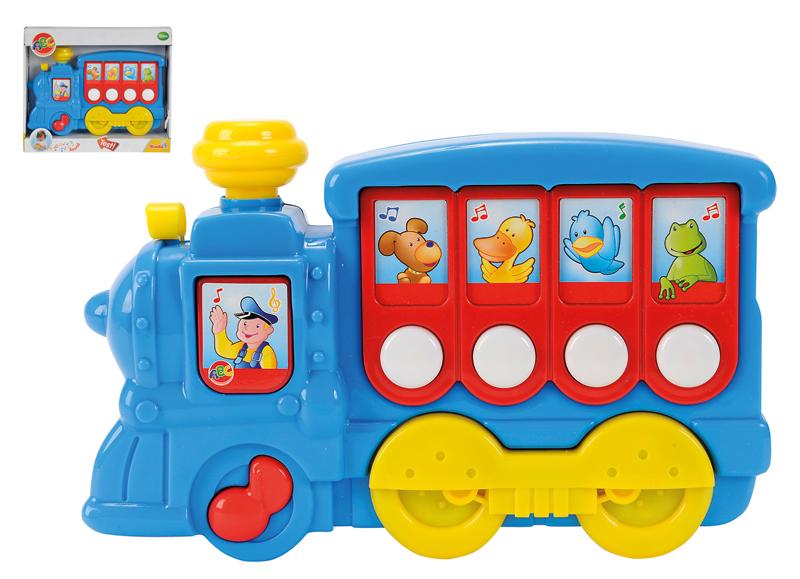Simba ABC Musiklokomotive (Blau) [Babyspielzeug]