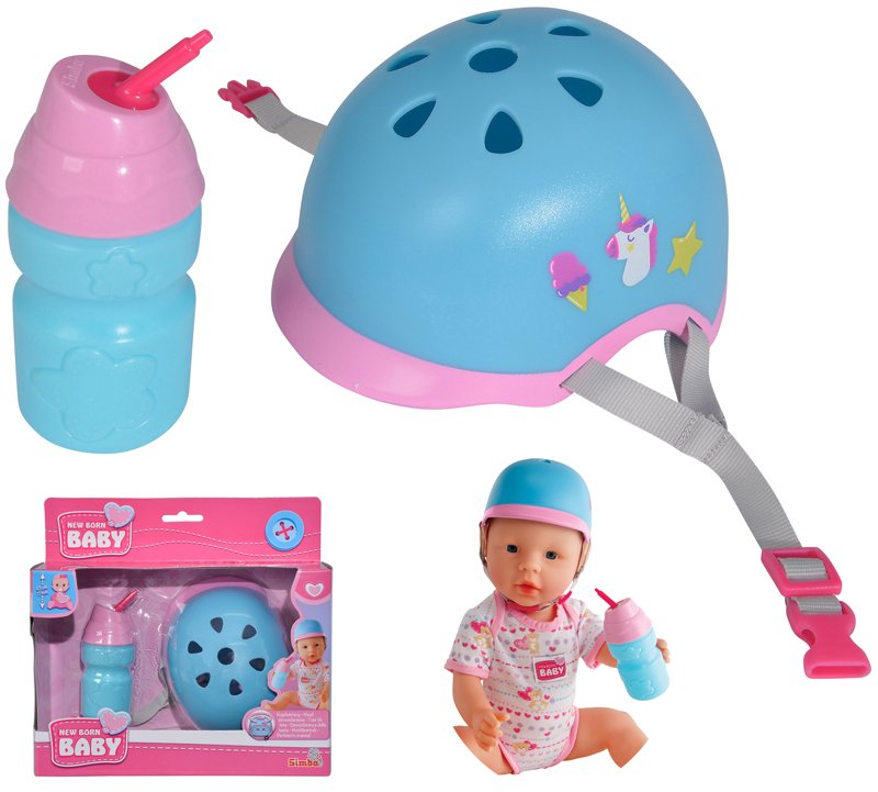 simba-new-born-baby-fahrradhelm-und-trinkflasche-43-cm-kinderspielzeug-
