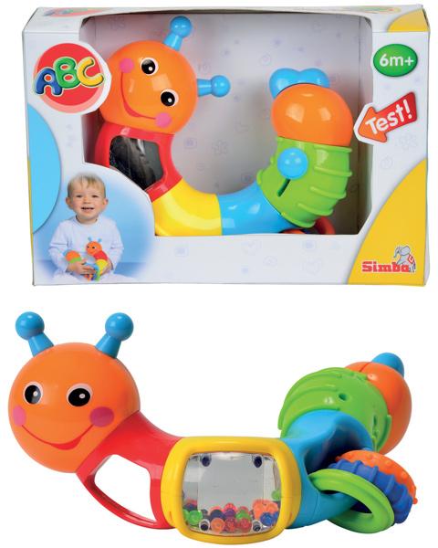 simba abc raupe mit multidrehfunktion babyspielzeug. Black Bedroom Furniture Sets. Home Design Ideas
