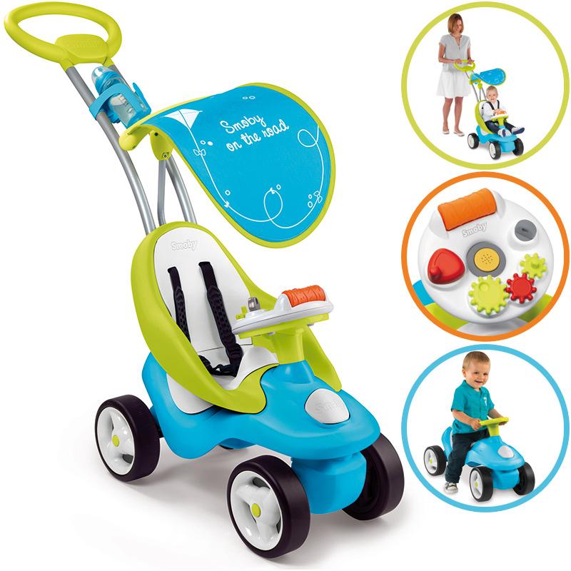 Smoby Rutscherauto Bubble Go 2in1 (Blau) [Kinderspielzeug]