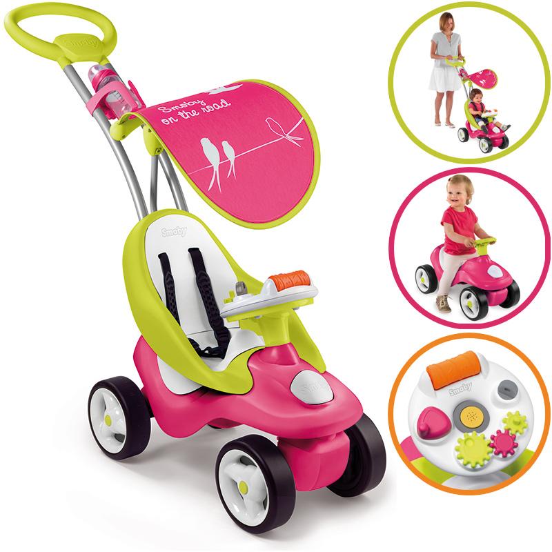 Smoby Rutscherauto Bubble Go 2in1 (Pink) [Kinderspielzeug]