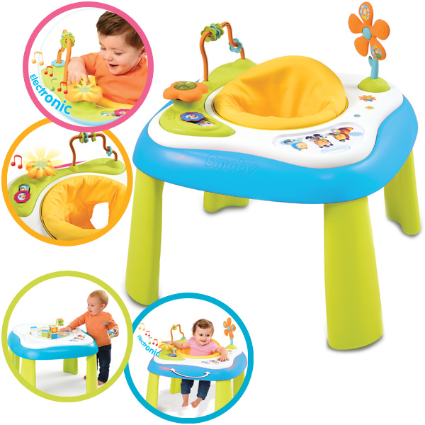 smoby cotoons 2 in 1 baby activity tisch mit licht und. Black Bedroom Furniture Sets. Home Design Ideas