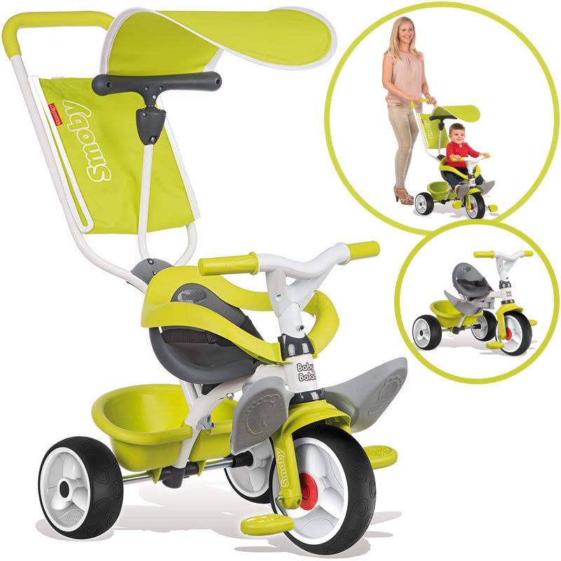 Smoby Dreirad Baby Balade Comfort (Grün) [Kinderspielzeug]