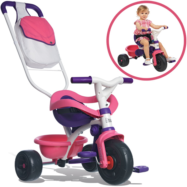 Smoby Dreirad Be Move Comfort New Girl (Rosa Lila) [Kinderspielzeug]