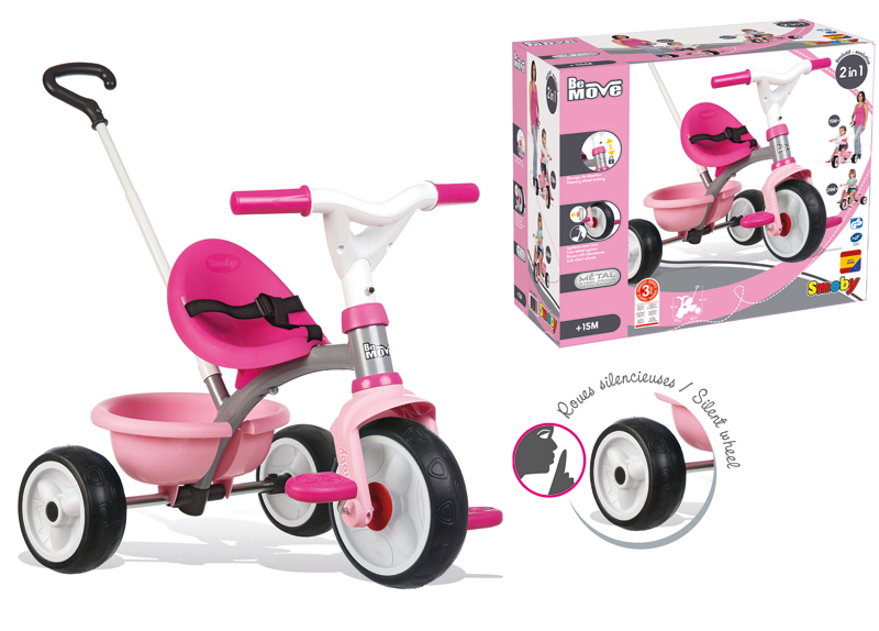Smoby Dreirad Be Move Girl (Rosa Pink) [Kinderspielzeug]