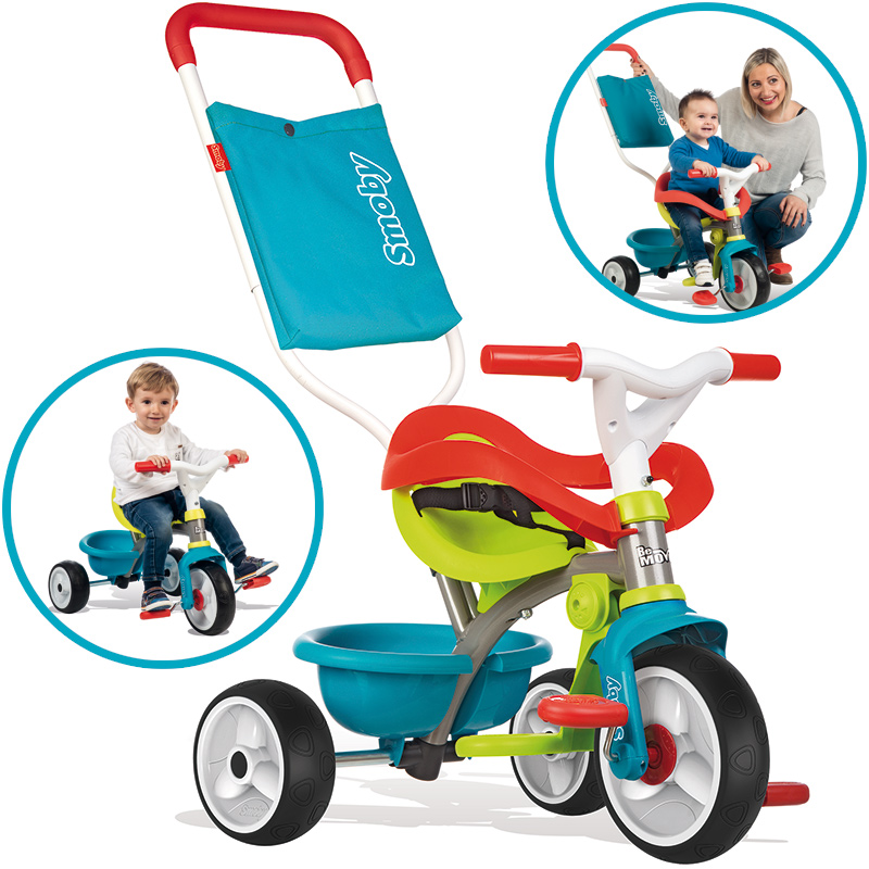 Smoby Dreirad Be Move Comfort Pop II (Petrol Grün) [Kinderspielzeug]