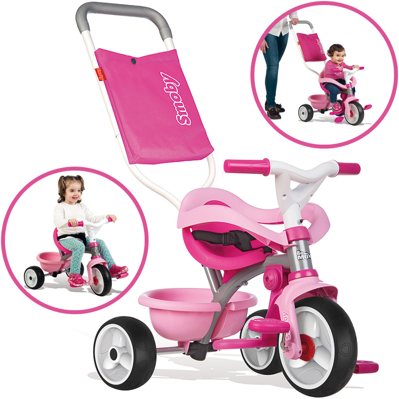 Smoby Dreirad Be Move Comfort Girl II (Rosa Pink) [Kinderspielzeug]
