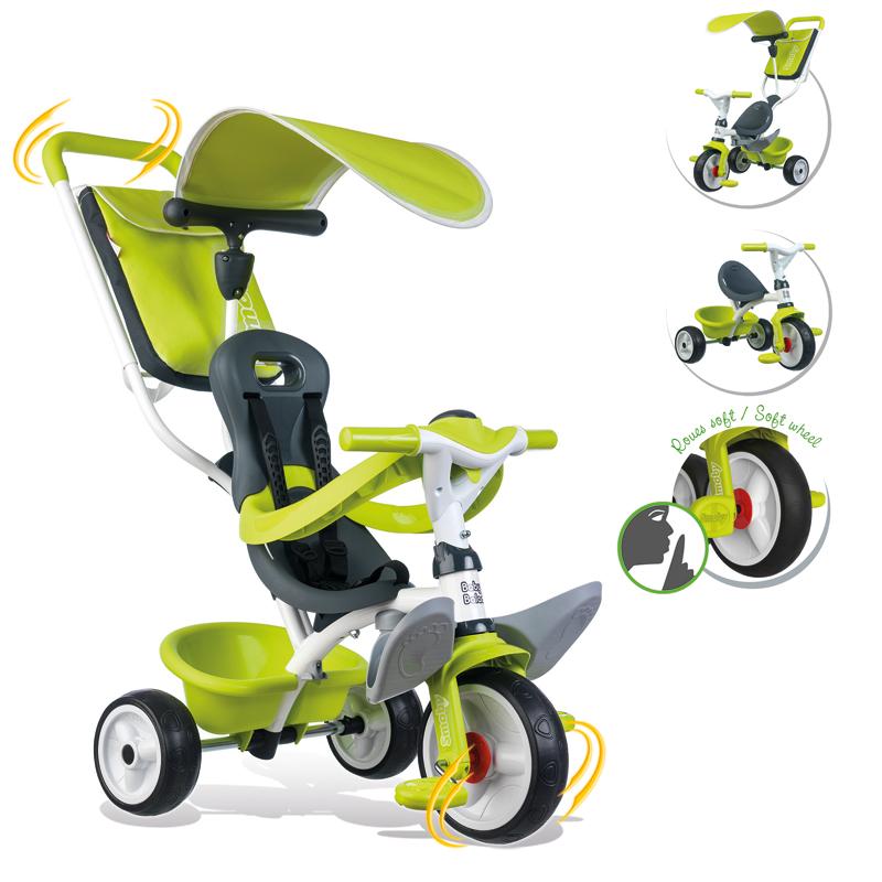 Smoby Dreirad Baby Balade Comfort II (Grün) [Kinderspielzeug]