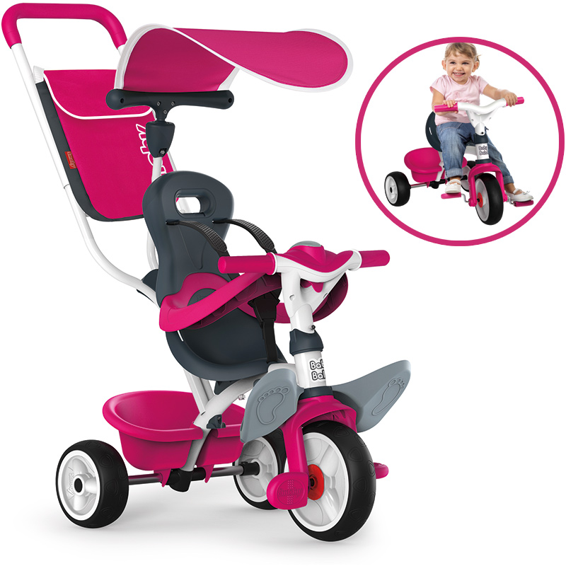 Smoby Dreirad Baby Balade Comfort II (Pink) [Kinderspielzeug]