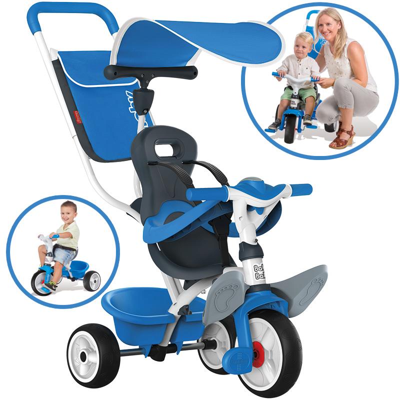 Smoby Dreirad Baby Balade Comfort II (Blau) [Kinderspielzeug]