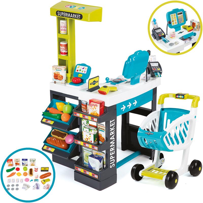 smoby-supermarkt-mit-einkaufswagen-turkis-grun-kinderspielzeug-