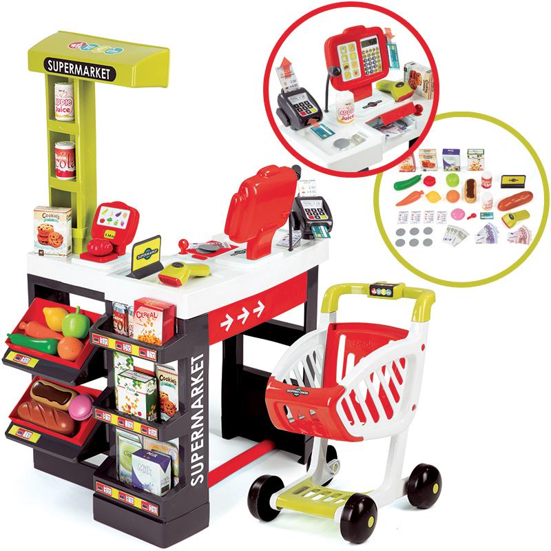 smoby-supermarkt-mit-einkaufswagen-rot-kinderspielzeug-