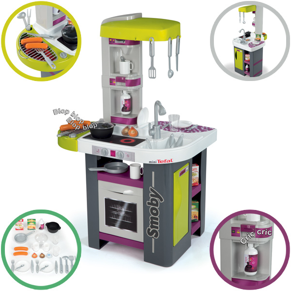 Tefal Mini Küche Smoby Mini Tefal Elektronische Studio Barbeque Küche Grau  Grün Ebay