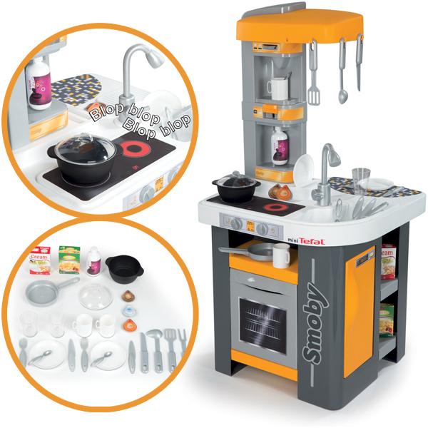 Mini Tefal Elektronische Studio Küche (Grau-Orange-Gelb