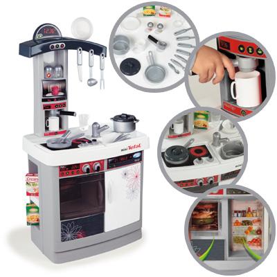 smoby mini tefal kinderküche chef cook (weiß-grau) bei spielzeug24 - Smoby Küche Tefal