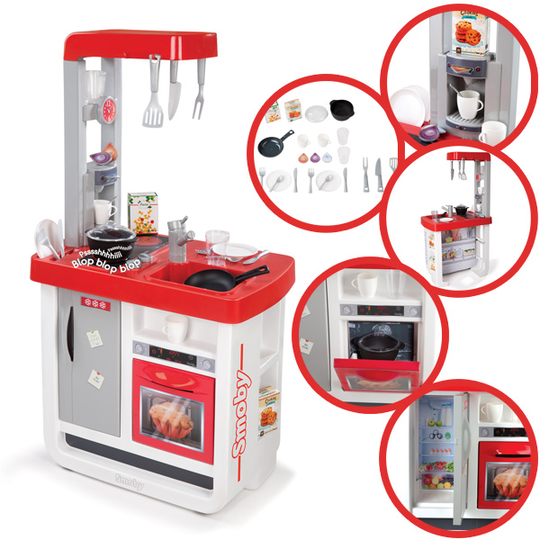 Smoby elektronische kinderkuche bon appetit rot weiss bei for Kinderküche smoby