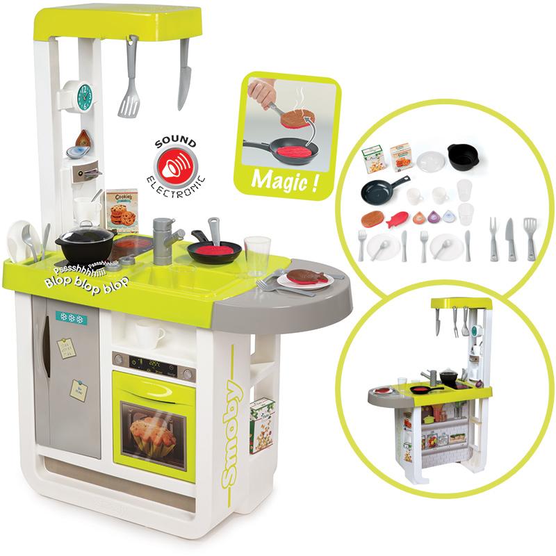 Smoby elektronische kinderkuche cuisine cherry weiss lemon for Smoby kinderküche