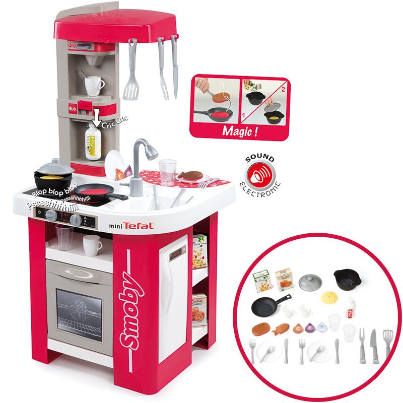 Smoby Mini Tefal Elektronische Studio Küche (Rot-Weiß) bei Spielzeug24
