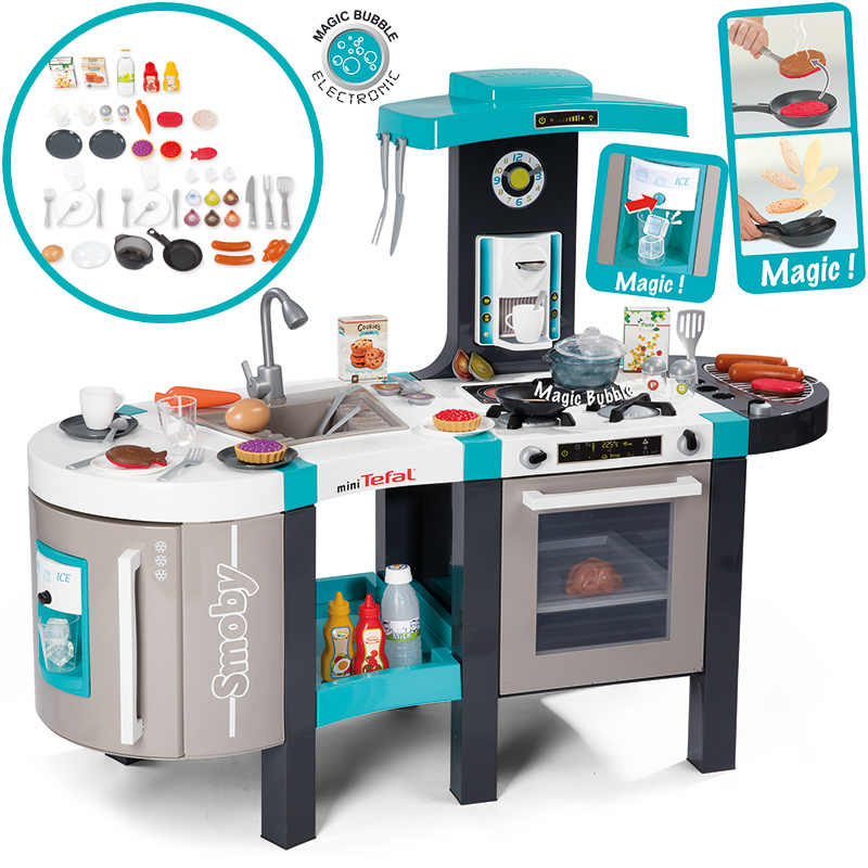 smoby mini tefal elektronische french touch bubble k che. Black Bedroom Furniture Sets. Home Design Ideas