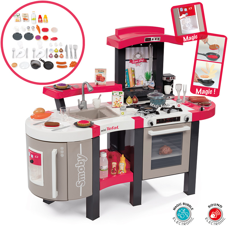 smoby mini tefal elektronische superchef bubble k che rot bei spielzeug24. Black Bedroom Furniture Sets. Home Design Ideas