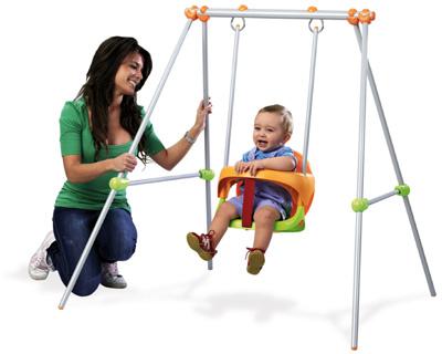 metallschaukel baby swing babyschaukel schaukel kinder. Black Bedroom Furniture Sets. Home Design Ideas