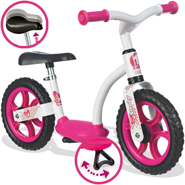Smoby Laufrad Comfort Girl (Pink Weiß) [Kinderspielzeug]