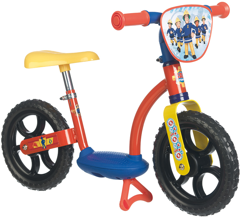 Smoby Feuerwehrmann Sam Laufrad Comfort (Rot Blau) [Kinderspielzeug]