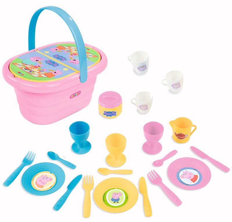 smoby-peppa-pig-picknick-korb-rosa-bunt-kinderspielzeug-, 14.95 EUR @ spielzeug24