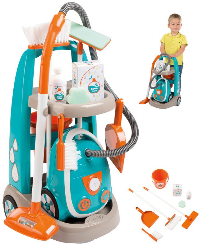 smoby-putzwagen-reinigungstrolley-mit-staubsauger-turkis-orange-kinderspielzeug-