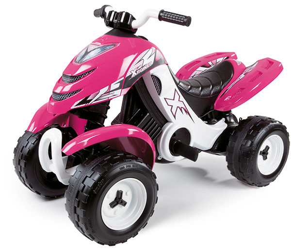 smoby elektronisches racing quad x power pink bei. Black Bedroom Furniture Sets. Home Design Ideas