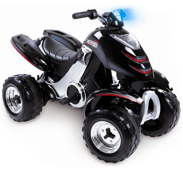 Smoby Elektronisches Racing Quad X Power Carbone mit Licht (Schwarz) [Kinderspielzeug]