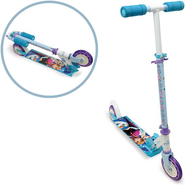 Smoby Disney Frozen Roller mit Bremse, Klappbar (Türkis Weiß) [Kinderspielzeug]