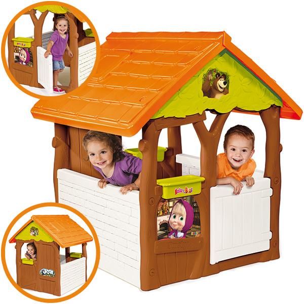 Smoby Spielhaus Masha Bärenhaus Haus Gartenhaus Kinder ...
