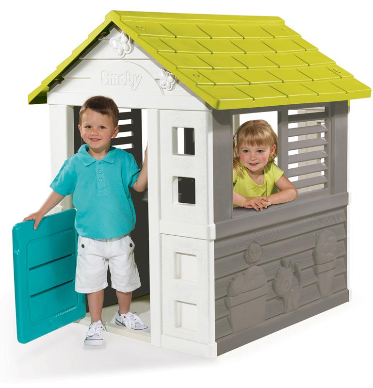Smoby Spielhaus Jolie Haus Grau Turkis Grun Bei Nunonde